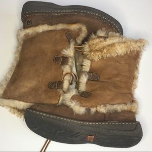 Born Winter Leather boots with Shearling fur sz 7